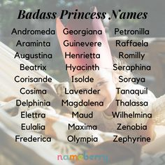 The Badass Princess names are appealing not because of their sound or even their style, but because of their image. They're a little bit bad, a little bit good, and the perfect combination of both. Click through for more! #babynames #girlnames #badassprincess