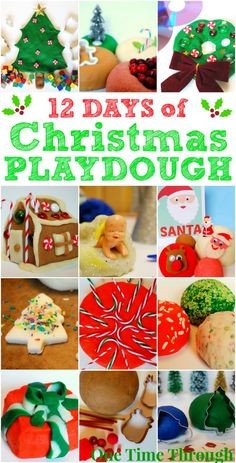 12 Days of Christmas Playdough from One Time Through