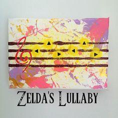 Legend of Zelda Zelda's Lullaby Original by HereComesTheNerd The Legend Of Zelda, Zelda Baby, Nerd Room, Diy Gifts, Diy Zelda Gifts, Baby Decor, My New Room, Fun Projects, Painting & Drawing