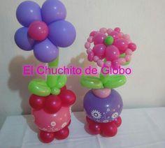 Flower balloon centerpiece
