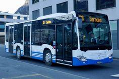 MB C2 K 333 von Bus Sarganserland Werdenberg am 16.2.19 bei der Einfahrt auf den Bahnhof Sargans. Brahma, Busse, Public Transport, Mercedes Benz, Transportation, Berlin, Travel, Places, Autos
