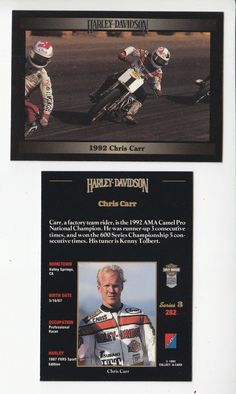 The card is from the Harley-Davidson Series 3 set from Collect-A-Card Corporation, 1993. The card back is in ENGLISH and includes great facts and specifications for this bike and includes a 2nd (different) full-color picture on the card back. | eBay!