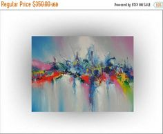 ON SALE Modern Abstract Painting Abstract art  Flower