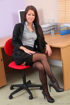 Business Women In Stockings