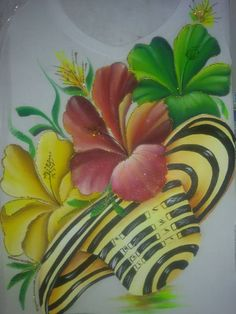 El vueltiao se lleno de cayenas Rock Flowers, Fabric Painting, Hibiscus, Pop Art, Art Drawings, Craft Projects, Tropical, Floral, Plants