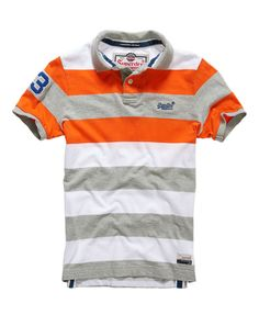 Shop Superdry Mens Double Stripe Hit Polo in Double Riviera Mix. Buy now with free delivery from the Official Superdry Store. Polo Rugby Shirt, Mens Polo T Shirts, Blue Polo Shirts, Striped Polo Shirt, Golf Shirts, Boys Summer Outfits, Mens Flannel, Superdry Mens, Sweater Shirt