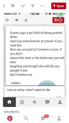 This is so creepy and like 2 minuets ago I herd laughing in my bathroom and I'm to yong to die