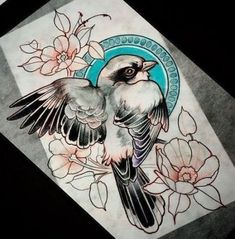 tattoos i love tattoo designs, tattoos, Love Tattoos, Beautiful Tattoos, Body Art Tattoos, Tattoo Sketches, Tattoo Drawings, Sparrow Tattoo, Bird Sketch, Desenho Tattoo, Neo Traditional Tattoo
