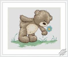 Teddy Bruno - Cross Stitch Kits by Luca-S - B1018