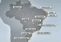 Brazilian cities hosting the World Cup 2014