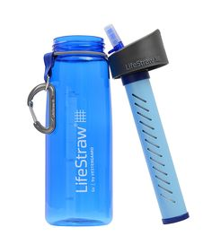 LifeStraw is ideal for hiking, backpacking, camping, travel, and emergency preparedness. The straw-style filter design lets you turn up to 1,000 liters of contaminated water into safe drinking water.  The leak-proof bottle made of BPA-free Tritan can be re-used indefinitely, simply purchase a replacement filter when needed.  I take one with me on all my hikes and the peace of mind is great knowing you'll be able to filter some fresh water if you run out. $29.95
