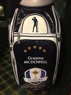 Nice touch Team Europe bag designer. Seve Ballesteros silhouette should inspire the guys.