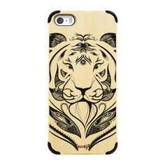 iPhone 6 Plus/6/5/5s/5c Wood Case - Tiger Plucked ($45) ❤ liked on Polyvore featuring accessories and tech accessories