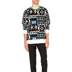 Casely-Hayford Galton Sweatshirt (2.845.215 IDR) ❤ liked on Polyvore featuring men's fashion, men's clothing, men's hoodies, men's sweatshirts and sweatshirts & hoodies