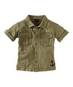 Look at this #zulilyfind! Lizard High Seas Camp Button-Up - Infant by Tea #zulilyfinds