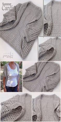 Crochet pattern Short sleeve SUMMER CARDIGAN in sizes small medium and large Permission to sell finished items Pattern No 200 Crochet Cardigan Pattern, Crochet Shirt, Crochet Jacket, Knit Or Crochet, Crochet Scarves, Crochet For Kids, Crochet Clothes, Crochet Patterns, Crochet Ideas To Sell