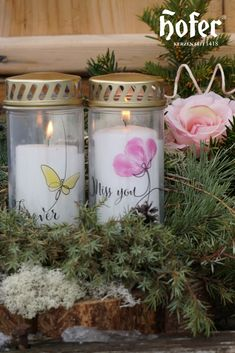 Candle Jars, Candle Holders, Candles, Design, Outdoor, All Saints Day, Gifts, Crafting, Ideas