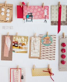 Love the idea of having a place to pin bits and pieces of inspiration
