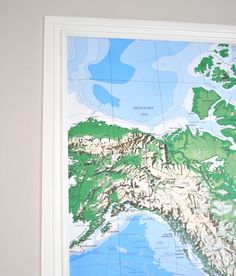 Want A Simple Way To Hang A Large Scale Map Or Poster Heres How - How to hang a large map