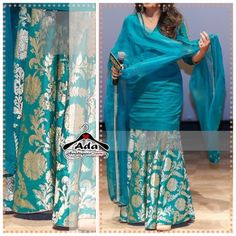 Kameez: Silk With Gotta. Dupatta: Net With Gotta Border. Size: Semi-stitched (customize-able to all sizes).Lehenga & Sharara – Page 5 Sharara Designs, Sari Blouse Designs, Kurta Designs Women, Kurti Designs Party Wear, Dress Indian Style, Indian Dresses, Indian Outfits, Indian Wear, Indian Attire