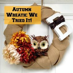 Adorable Handmade Autumn Wreath -- Made by YOU! (VIDEO) | CafeMom