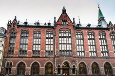 Neo-Gothic building of the Wroclaw University Library (Städtische Sparkasse und Bibliothek), Wroclaw (Breslau), Poland