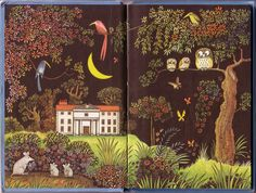 Ladybird - endpaper of Bedtime Rhymes I loved this and spent hours looking at it