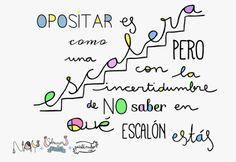 ¿Y tú, en qué peldaño estás? ~ Sobrevivir a opositar sin volverse loco #oposiciones