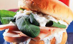 Recheio Mania: Sanduíche aromático de peito de peru