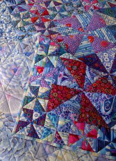 Pinwheel quilt, Kaffe Fassett fabrics, posted at Cape Pincushion (Stellenbosch, Western Cape, South Africa)