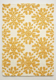 dark yellow floral rug  #anthroregistry http://rstyle.me/n/ki595pdpe