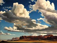 Ed Mell / High Clouds / 1999 / oil on linen / Tucson Museum of Art