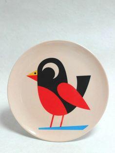 Melamine Plate, Little Bird, OMM Design