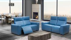 Fabriqué au Canada, le canapé inclinable en cuir Atlanta de Bugatti Design est offert dans un vaste choix de cuirs et de tissus.