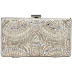 John Lewis Toni Box Clutch Bag, Cream (€76) ❤ liked on Polyvore featuring bags, handbags, clutches, hard clutch, evening clutches, metallic clutches, handbags & purses and evening handbags