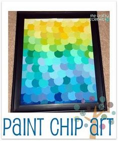 I need something to do with all my paint chips.