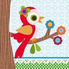 kraamborrelkaartje of babyborrelkaartje geboortekaartje lief vogeltje