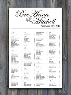 Gold Wedding Table Seating Plan Sign Poster Board Printable