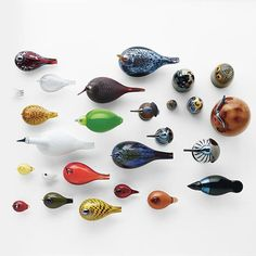 The Birds by Toikka Glasbird collection was created by Oiva Toikka for Finnish design company Iittala.Iittala started as a small glassware company in Over Birdhouse In Your Soul, Flock Of Birds, Wooden Figurines, Glass Birds, Glass Design, Design Firms, Scandinavian Design, Glass Art, Instagram
