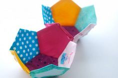 Como hacer una pelota para bebe de patchwork