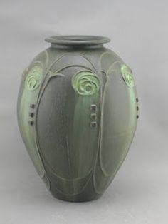 nouveau vase rose clay pottery ceramics