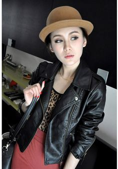 f5767ed232f Buy new winter women motorcycle leather coat jacket s-xxl size diagonal  zipper short outerwear coats from newdress