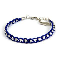 navy braided bracelet
