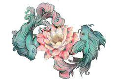 Tattoo Koi Fish Print by Les-belles-soeurs on DeviantArt