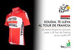 Soudal te lleva a la última etapa del Tour de Francia y sólo por contestar a dos preguntas. Lo verás en un coche VIP del equipo Lotto-Soudal, entrando por la línea de meta detrás de los ciclistas, en los Campos Elíseos de París. Vivirás el tour desde dentro.