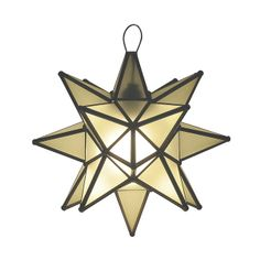 A White stain glass lamp in a shape of a star will add Southern warmth to the living space. Lamp is made of metal frame and glass. by Rustica House Rustic Pine Furniture, Rustic Lighting, Decorative Lighting, Lighting Ideas, Lighting Design, Star Lamp, Hanging Stars, Southwestern Decorating, Iron Chandeliers