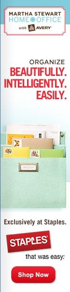 New M. Stewart labels, tags, boxes, pockets, journals, binders etc. for home/office organization.