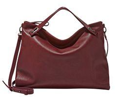 Skagen 'Mikkeline' Leather Satchel available at Burgundy Bag, Oxblood, Fall Bags, Travel Wear, Skagen, Fall Wardrobe, Leather Satchel, Satchel Bag, Pantone