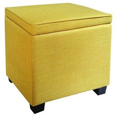 Room Essentials™ Storage Ottoman with Feet - Turquoise Blue : Target College Furniture, Teal Furniture, Apartment Furniture, Find Furniture, Apartment Ideas, Yellow Ottoman, Pouf Footstool, Feet Show, Living Room Bench