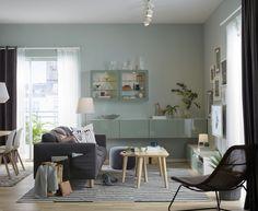 Best opberger met deuren wit selsviken hoogglans licht grijsgroen zitbank mintgroen en - Eigentijdse interieurdecoratie ...